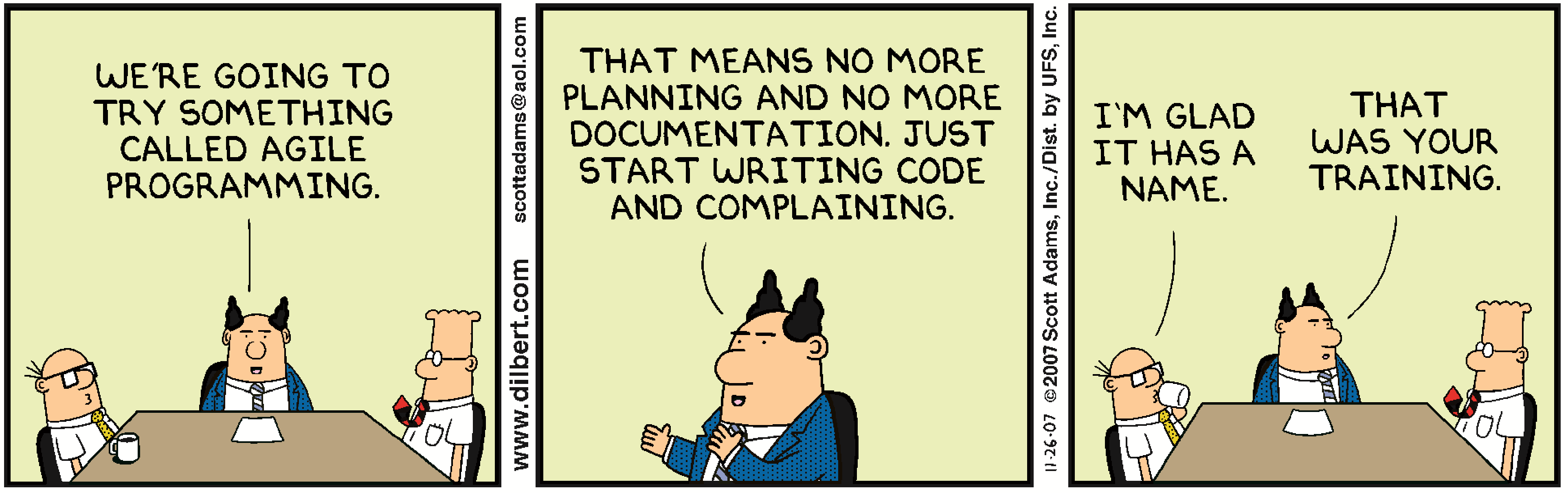 Agile project management with Dilbert